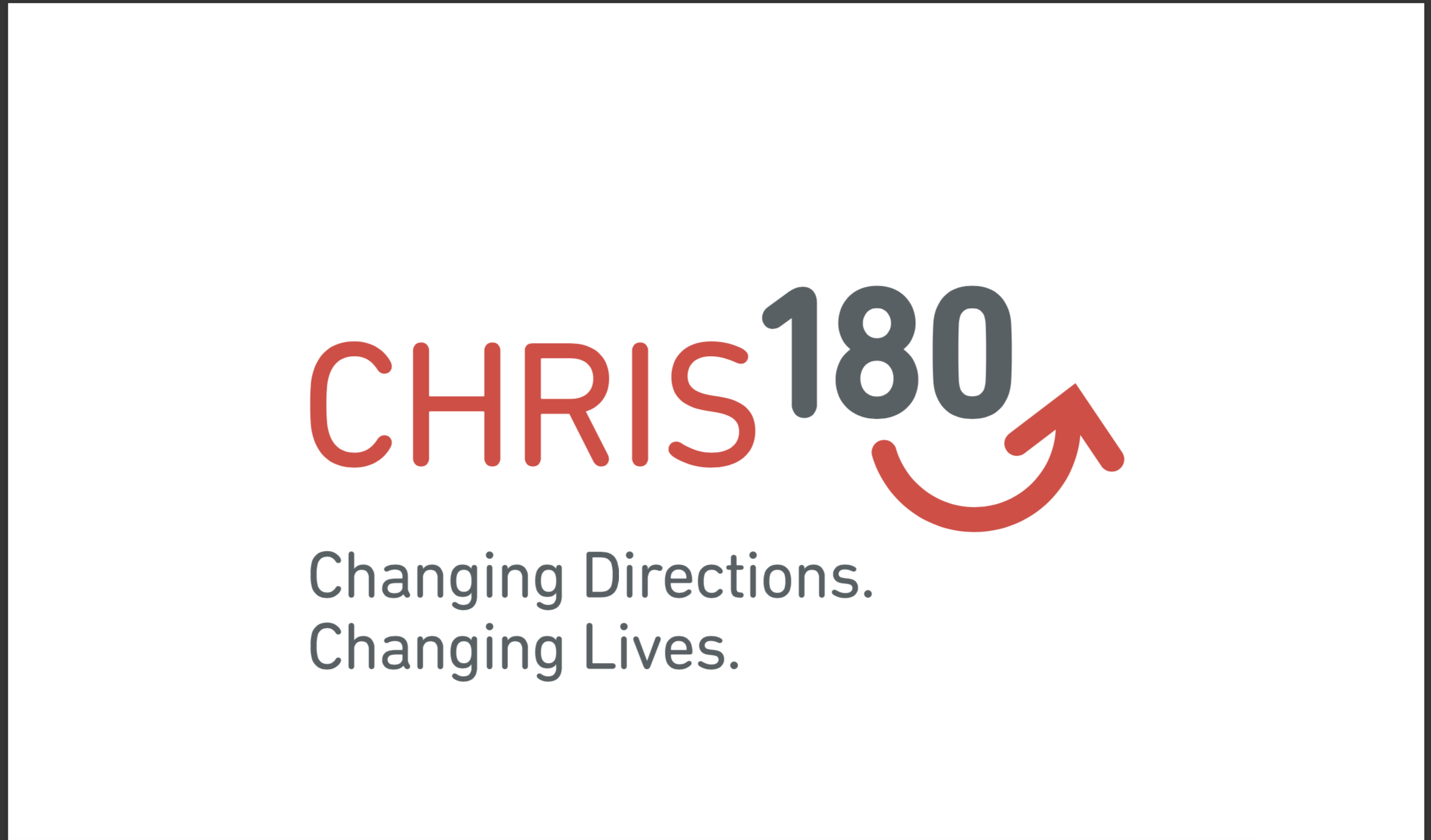 CHRIS 180_logo + tagline