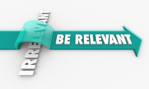be relevant written on arrow