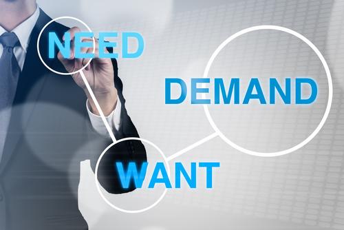 marketing need, demand, want
